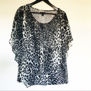 Alyx Animal Print Blouse Flowy 2X